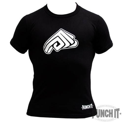 Punch it T-Shirt Strong Fist black