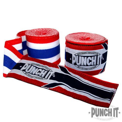 Boxbandagen Punch it 4.6 m Thaiflag