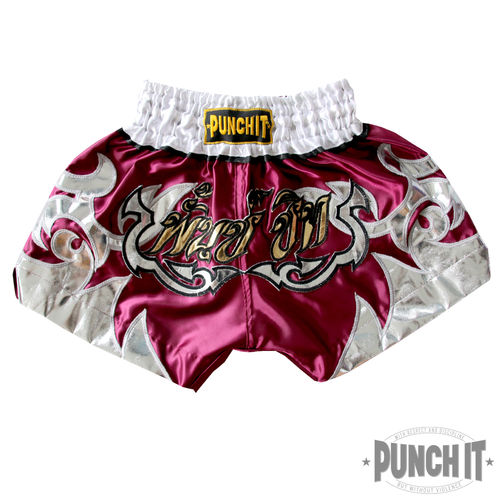 Kids Muay Thai Short Punch it purple