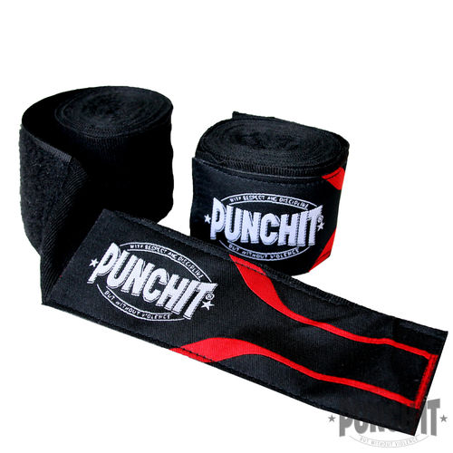 Boxbandagen Punch it 3.8 m Black&Red