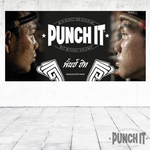 Punch it PVC Gym Banner 120 x 60 cm
