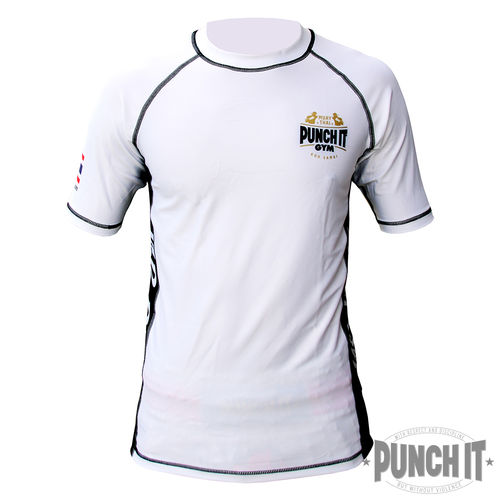 Punch it Gym Rashguard white