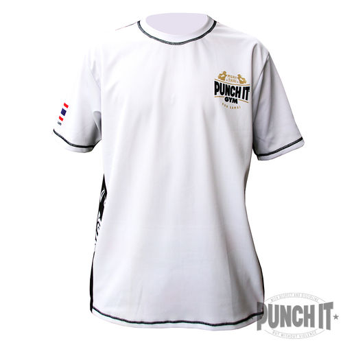Punch it Gym Dri-Fit white