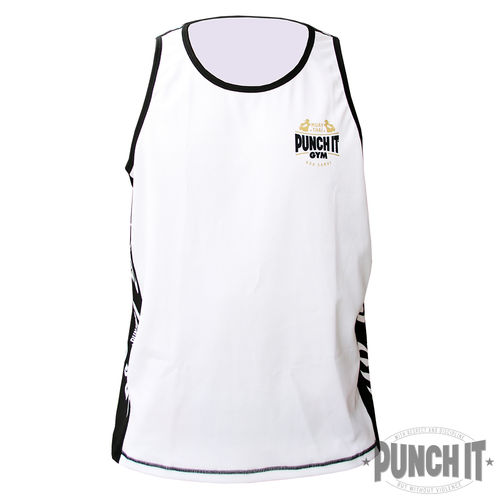 Punch it Gym Dri-Fit tank top white